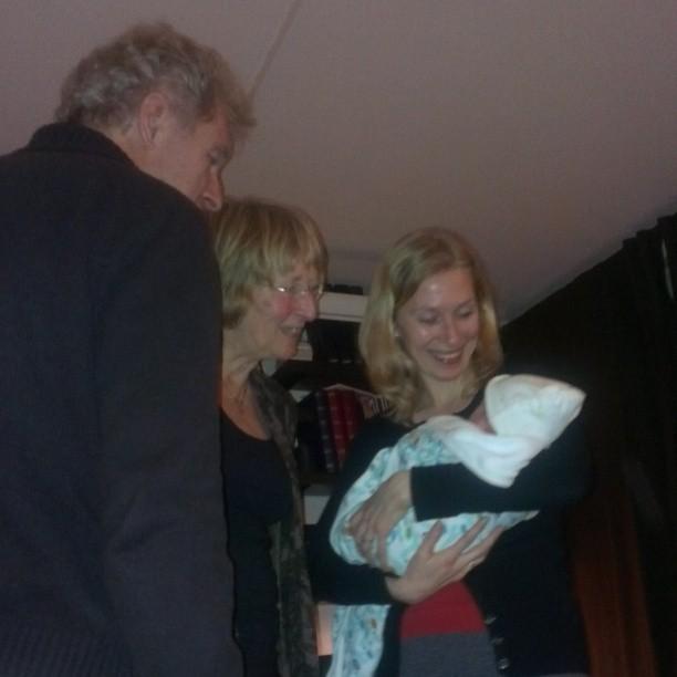 Opa, oma, Minke en Nova.