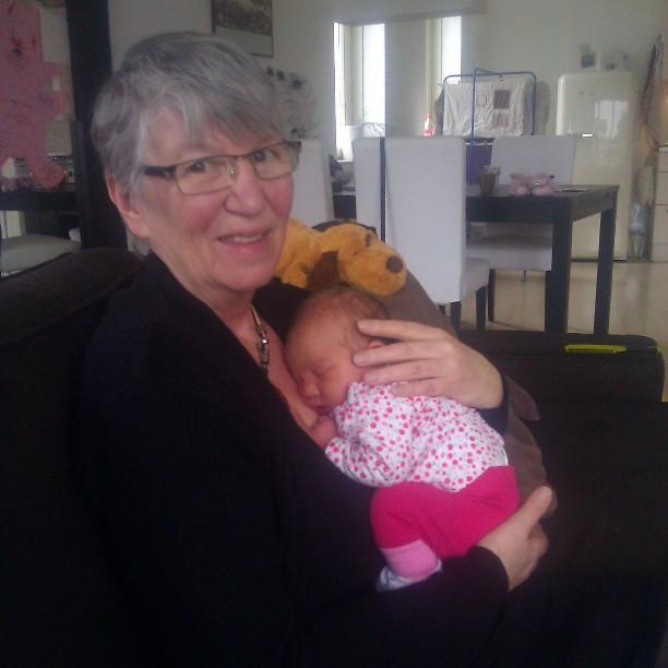 Oma Aker met ons propje