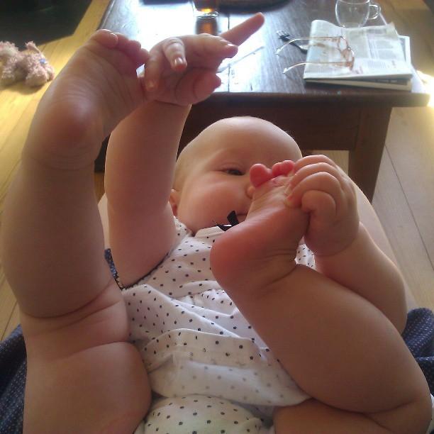 Joepie ik heb voetjes!