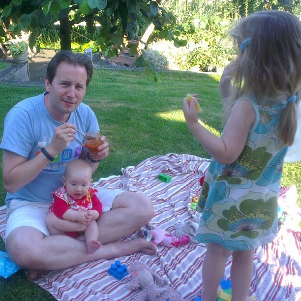 In de tuin in Nieuwkoop.