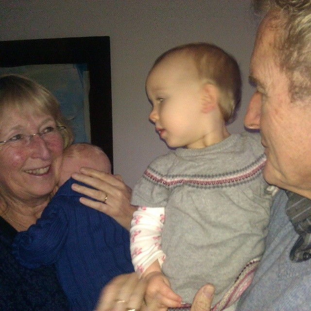 Opa en oma met de kleinste Cladders