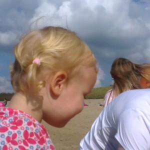 Filmpje : op het strand