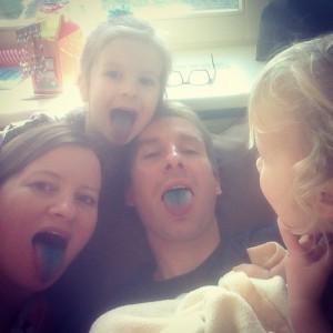 Nova en haar familie blauwtong