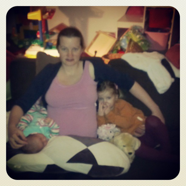 Edith met haar 2 meiden.