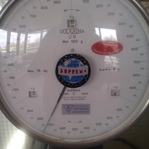 Gewicht na 1 maand: 4730 gram!