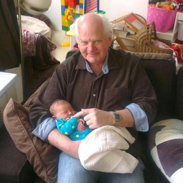 Opa Jack op bezoek.