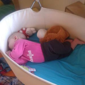 Slapen in de swing op he kdv,haar favoriete plekje daar.